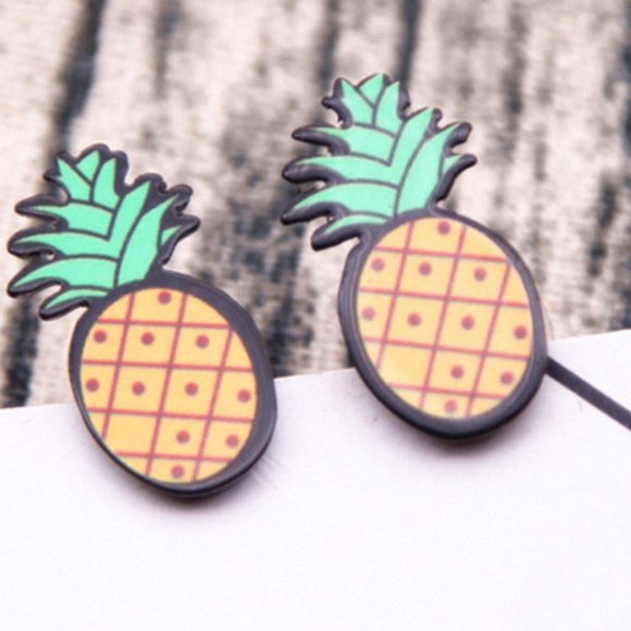 c9beab094 Jewelry | Fun Pineapple Earrings Studs Acrylic New | Poshmark